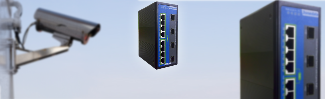 8+4Gbit port managed industrial PoE switch