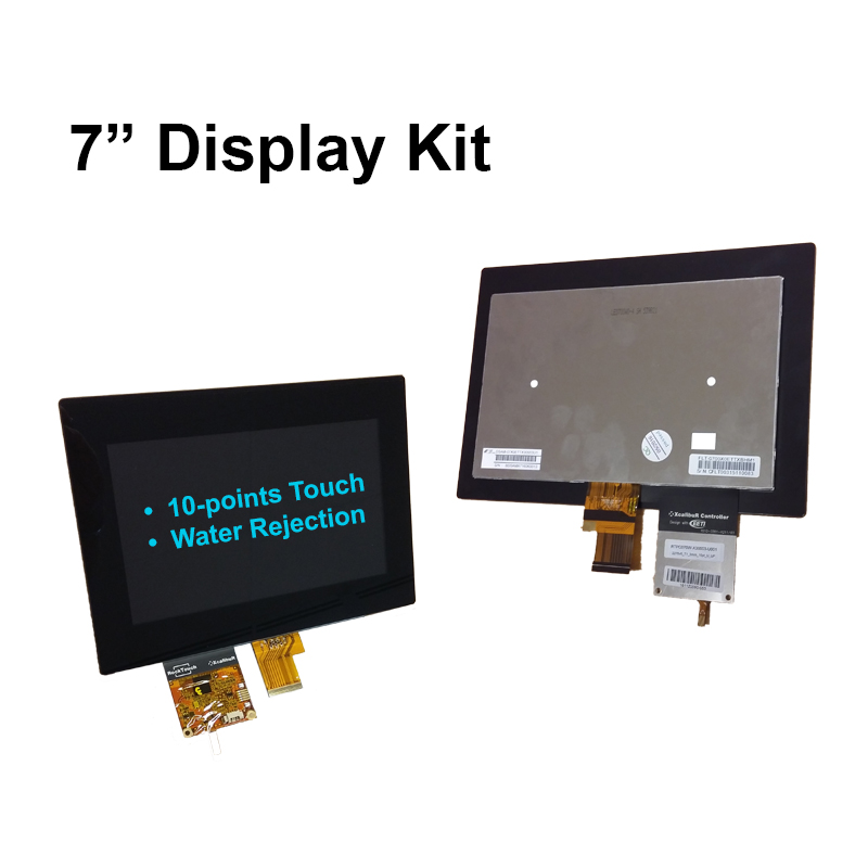 7-inch LCD (500cd/m2, industrial) PCAP (3mm cover, 10-point touch) + DSI to LVDS board