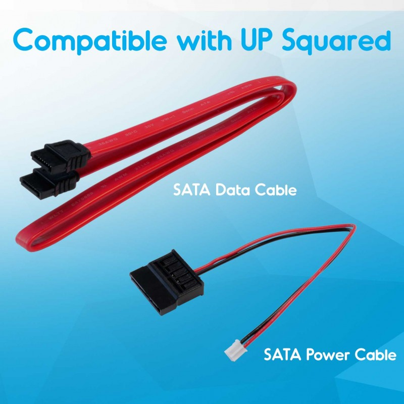 SATA power & data cable for UP Squared (15 cm), 15pin power, 7p data female to female