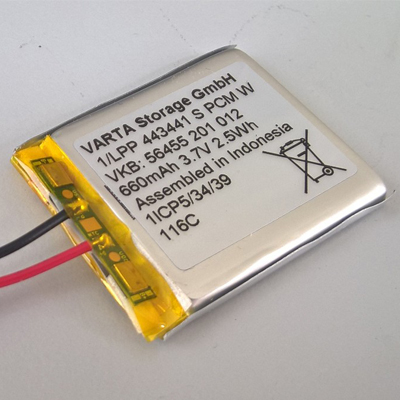 Additional LiPo battery for the S.USV UPs, 660 mAh / 3.7 V /  2.5 Wh