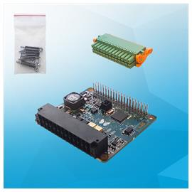 Add-on board for UP Board & UP² with 4x digital I/O, 2x analog I/O, 1x RS-485, 1x 1-Wire bus
