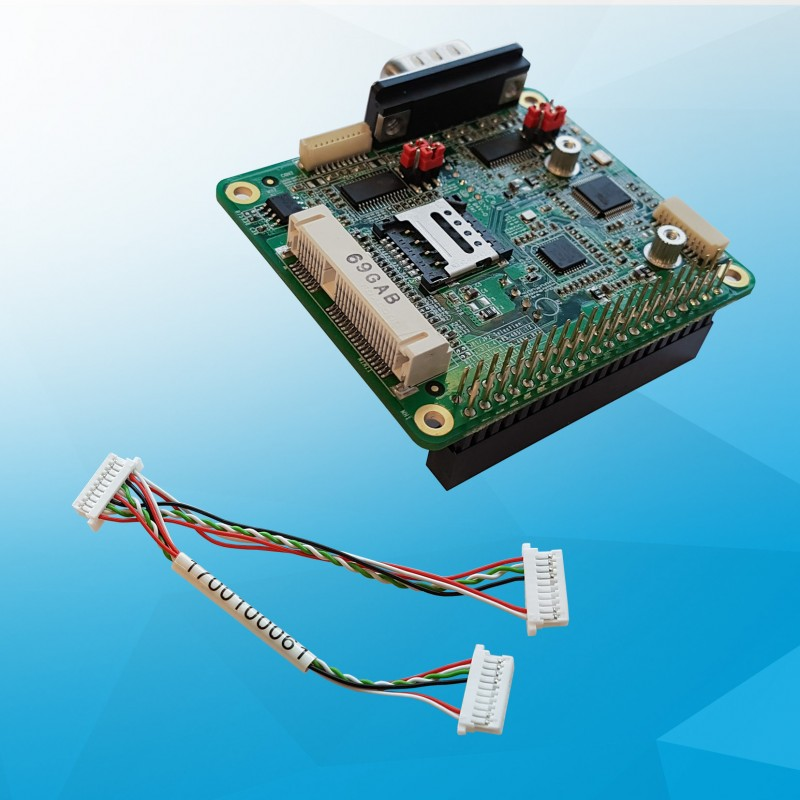 Add-on board for UP Board with mPCIe slot + SIM including USB cable, for 3G / WiFi / BT module