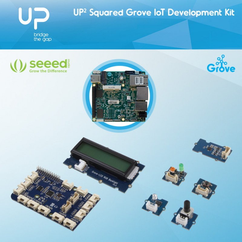 IoT Development Kit with UP Squared N3350 2GB RAM & 32GB eMMC incl. Grove sensors, US Power Supply