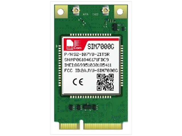 SIM7000G-PCIE-SMM - Simcom - Global-band LTE NB-IOT PCIE Module TX3
