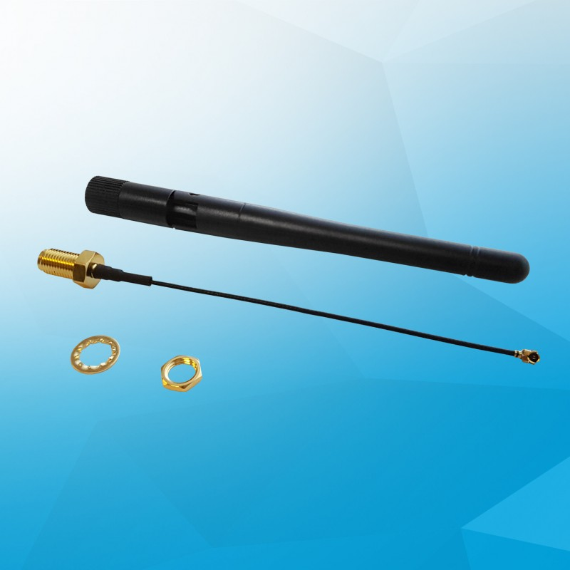 External WiFi antenna kit for UP Core, I-PEX to SMA jack (10cm)