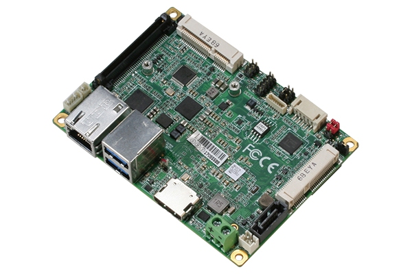 Pico-ITX N3350 with DDR3L / mSATA, incl. SATA(power) + USB + COM + line-out cables & heatspreader with heatsink