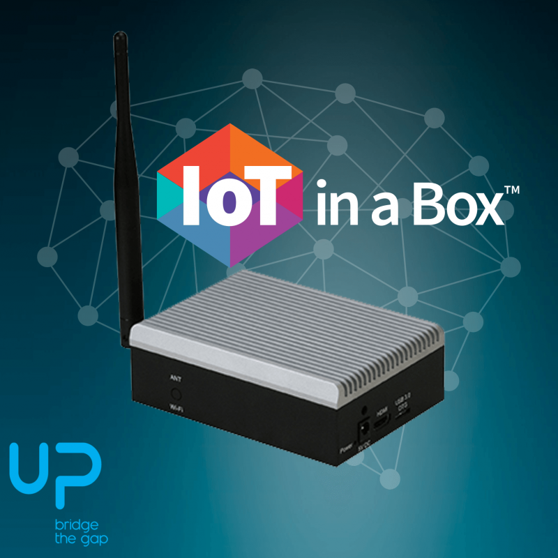UP LoRa Edge with IoT in a Box is configured automatically with the app from Apple Store or Google Play